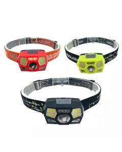 Super bright LED headlight motion sensor helmet headlight USB rechargeable flashlight