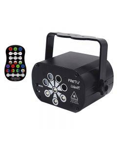 8-hole RGB Dj LED stage lighting effect UV light UV laser party KTV sound control Dj disco light