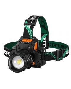 T8/L9 Headlamp Sensor Headlight Rechargeable Ultra Bright Long Range Focusing  White Light
