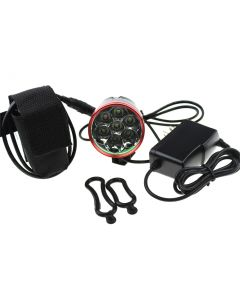 7T6 LED BIke Lights Red Head 7*Cree XM-L T6 Max 6000 Lumen 3 Mode Front Bicycle Light with 4*18650 battery Pack