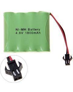 Ni-MH AA 4.8V 1800mAh SM Plug Battery Pack-4 Pcs a Pack