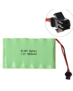 Ni-MH AA 7.2V 1800mAh SM Plug Battery Pack-6 Pcs a Row