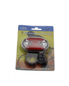 J-RT08 9 LED Multi-funtion High-brightness Bicycle tailights (2*1.5V AAA batteries)