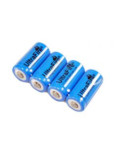 UltraFire LC 16340 880mAh 3.7V Rechargeable Li-ion Battery(4-Pack)