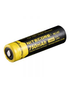 Nitecore NL147 750mAh 14500 3.7V 2.8Wh Li-ion Rechargeable Battery For High Drain Devices