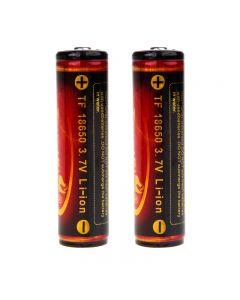 Trustfire 3.7V 3000mAh 18650 Protected Li-ion Battery(one pair)