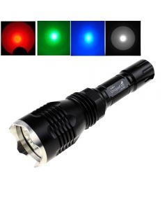 UniqueFire HS-802 Cree Red/blue/green/white light Long range Led Flashlight with Stainless Steel Head