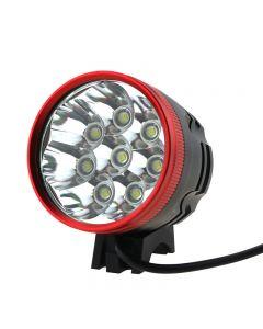 Red Head 8T6 LED Bike Light 8xCree XML-T6 LED 3 Mode 8000 Lumen Bike light with 8.4V 4x18650 battery Pack