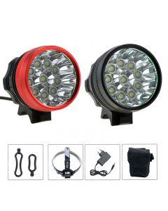 10xCREE XM-L T6 LED Front Bicycle Light Lamp & Headlamp 20000 Lumen 3 Modes Bike Lights + 8.4V 8800mAh Battery Pack Sets