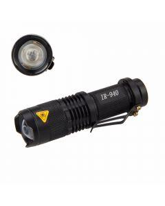 Mini SK68 LED Flashlight 5W 940nm LED Infrared Radiation Night Vision Light IR Torch(1*AA/14500 battery)
