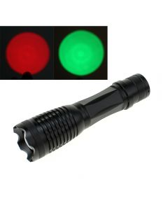 OEM E5 Flashlight Red/Green Light CREE XPE Zoomable LED Lantern Torch For Hunting Fishing Outdoor