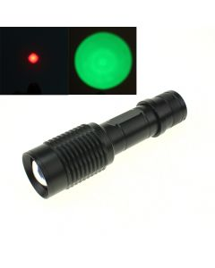 OEM E17 Torch Cree XPE Zoomable Red light/Green Light  LED Flashlight