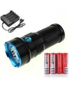 25000 LM light King 12T6 LED flashlight 12*XM-L T6 LED Torch Lamp Light For Hunting Camping