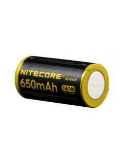 Nitecore NL1665R 650mAh 16340 CR123 Built-in Micro-USB Charge Port Rechargeable Li-ion Battery 3.6V 2.34Wh High Performance