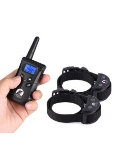 500m RC Pet Dog Training Collar For 2 Dogs Electric Shock Vibration Light Voice Dog Training Device Pet Dog Trainer Small Dogs PaiPaitek PD520S-2