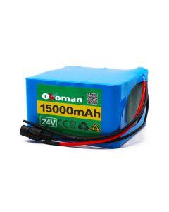 6s6p 24V 15Ah 18650 li-ion Battery pack 25.2v 15000mAh For ebike scooter
