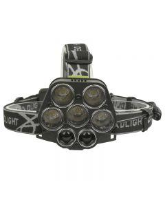 7 LED headlight 25000LM 5*T6+2*XPE headlight USB charging headlight portable fishing light