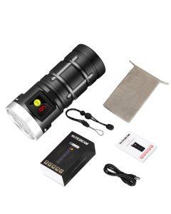 Nitebeam X12UV 9*Osram 6500K 3*UV 365nm UV USB Type-C LED Rechargeable Flashlight Kit