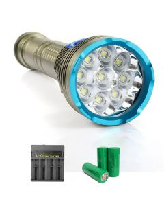 9pcs L2/T6 lamp high power 8000 lumens diving flashlight magnetic switch suitable for diving camping