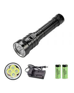 4 x XM-L L2 LED diving flashlight 26650 IPX8 waterproof underwater light 3 modes fishing flashlight