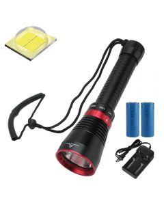 6000 Lumens XHP70.2 LED Diving Flashlight Fish Fishing Flashlight Submarine Light