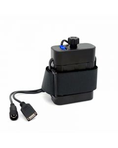 Waterproof 2x26650 Battery Pack Case Power Box DC Input/output 8.4V USB 5V Output For Bike Bicycle light Lamp