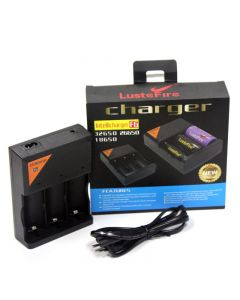 LusteFire F6 Intellicharger Battery Charger 110-240V for 32650 26650 18650 Li-ion Battery
