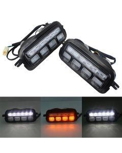 LED Daytime Running Lights For Lada Niva 4X4 1995 1 PAIR with Running Turn Signal car styling accessories