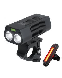 2*T6LED USB rechargeable bicycle light MTB bicycle front and rear tail light safety warning light