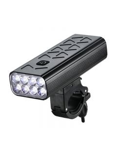 10000mAh Flashlight For Bicycle Front Light Bike 8T6 LED USB Rechargeable Display MTB Cycling Headlight