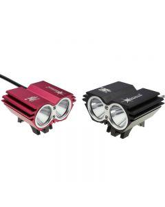 Light lamp SolarStorm X2 2*Cree XM-L2 2200-Lumen Led Bike Light Without Battery Pack