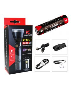 Klarus XT12GT TAC Extended Reach Flashlight Cree XPH35 HI LED torch(include 18650 battery)