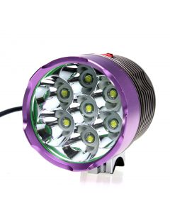 New Model 7*Cree XM-L T6 Front Bicycle Light 3-Modes 6000-Lumen Bike Light With 4*18650 Battery Pack