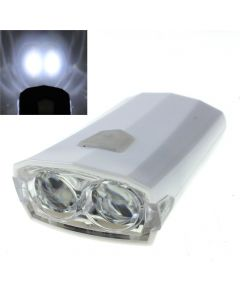 RAYPAL RPL-2251 USB Rechargeable Bike Light 2 LED 3 Mode White Light Bicycle Light -White Color